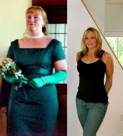 MARI GARNER went from 215 to 160 pounds