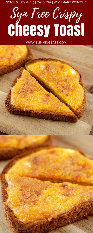 Délicieux Simple Syn Free Crispy Cheesy Toast avec une salade composée – un sim sim …   – Food