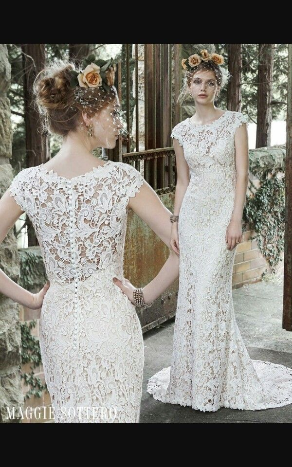 097b0656e94 LOVE THIS CAP SLEEVE AND BACK Maggie Sottero  Trudy  dress