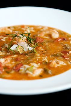 Seafood Andouille Gumbo ... Cajun cuisine ... New Orleans, Louisiana, USA - Substitute corn starch for flour and fresh crabmeat instead of imitation.
