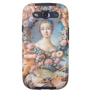 Madame de Pompadour François Boucher rococo lady Samsung Galaxy SIII Covers #madame #pompadour #pastel #portrait #boucher #Paris #France #classic #art #custom #gift #lady #woman #girl