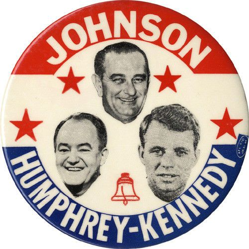 Scarce 1964 Johnson Humphrey Robert Kennedy New York Liberal Party Button (5609) | eBay
