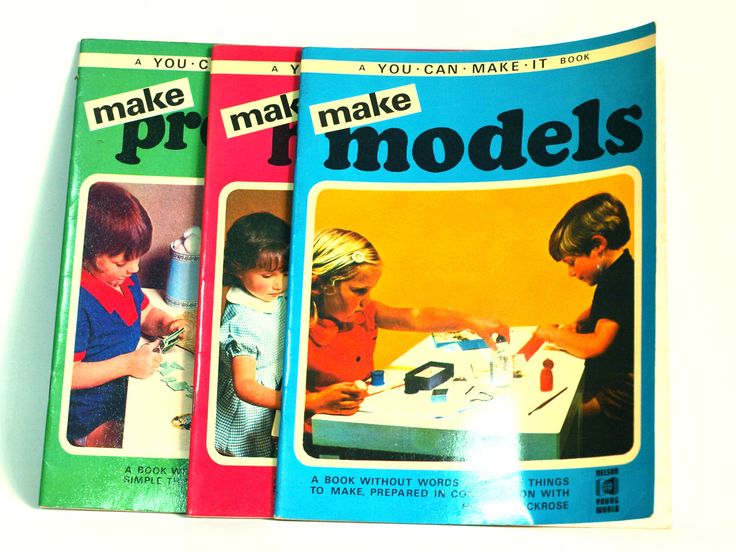 A You Can Make It Book - Make Models, Make Presents Make Houses 1974 Vintage Retro Kids Craft Nelson Young World Printed in Great Britain by FunkyKoala on Etsy