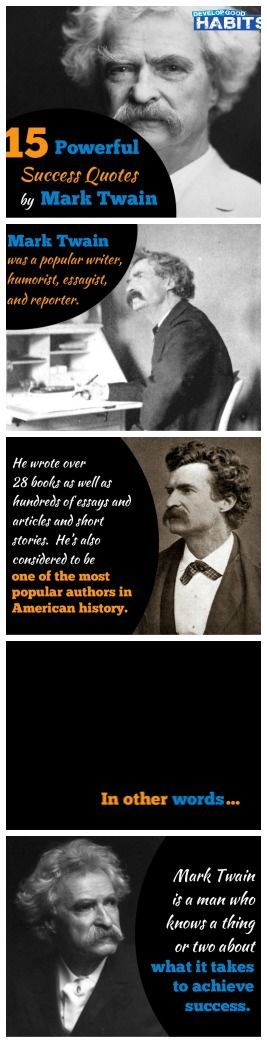 Best Mark Twain Quotes - What it takes to achieve success.
