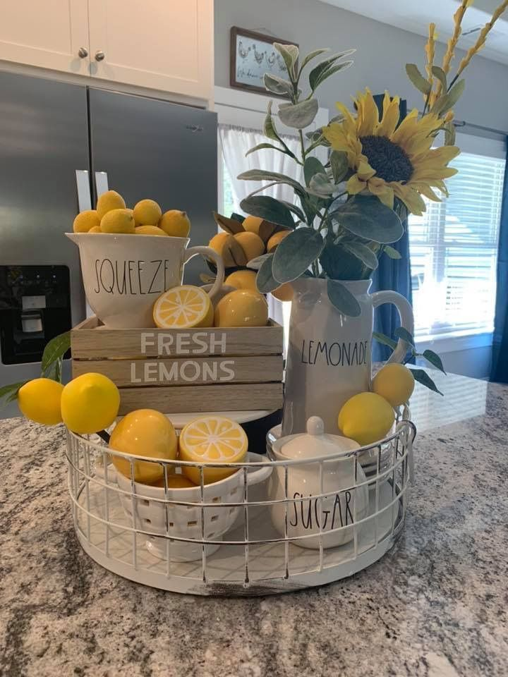 Kitchen Spring Decor Ideas - Clean and Scentsible in 8  Lemon