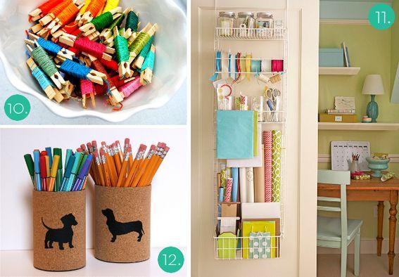 Ideas para ordenar tu material de manualidades el taller for Cosas faciles para decorar