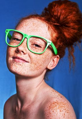 redhead with freckles so beautiful That's what my man says, have to believe it!  #redhead #redheads