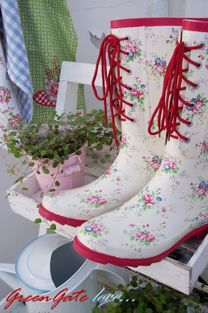 """Greengate Boots! """"I am in desperate need of some new books for the coming gardening season. These are too cute to resist!"""""""