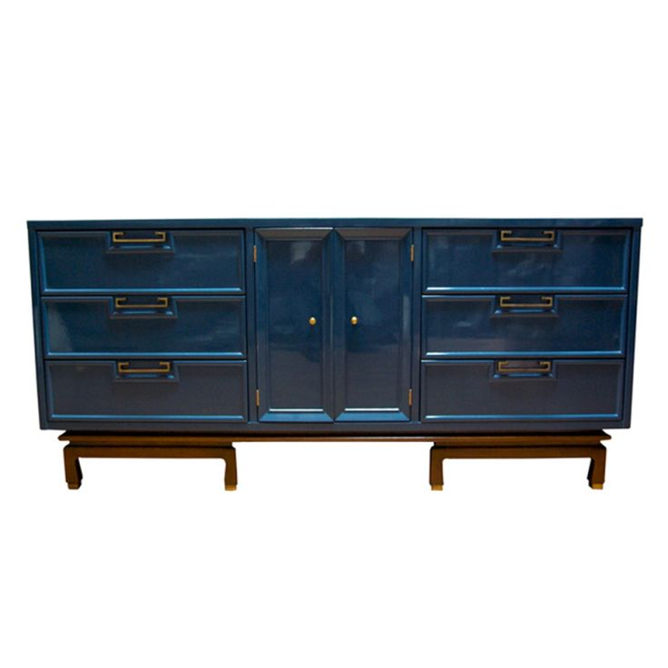 American of martinsville dresser in lacquered teal color for American martinsville bedroom furniture