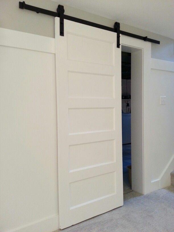 Sliding barn door vintage 5 panel door with home depot hardware kit