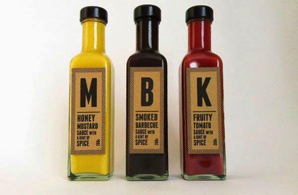 Desain Kemasan Makanan Saus Sambal - Mustard, BBQ and Ketchup oleh Greater Third