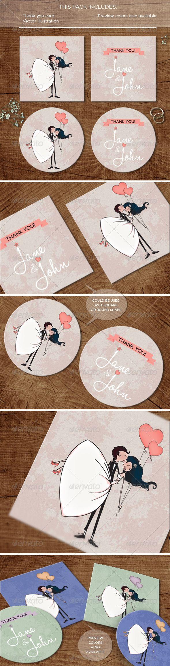 In the Air: #wedding #Thankyou #Card