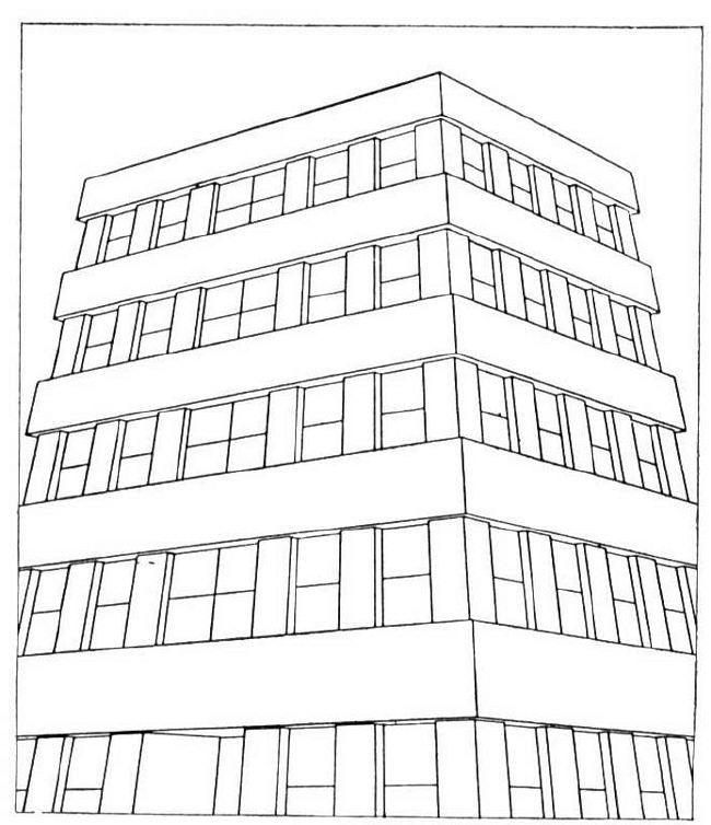 Dibujos De Edificios Modernos Para Colorear