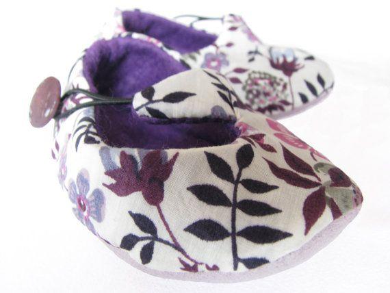 Chic newborn baby 'Lavender Dreams' floral shoes unique by bootki, $32.00