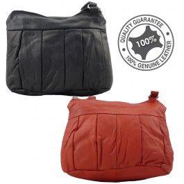 Full Grain Genuine Soft Sheep Skin Leather Sling Bag Small Multi Colours LB56703