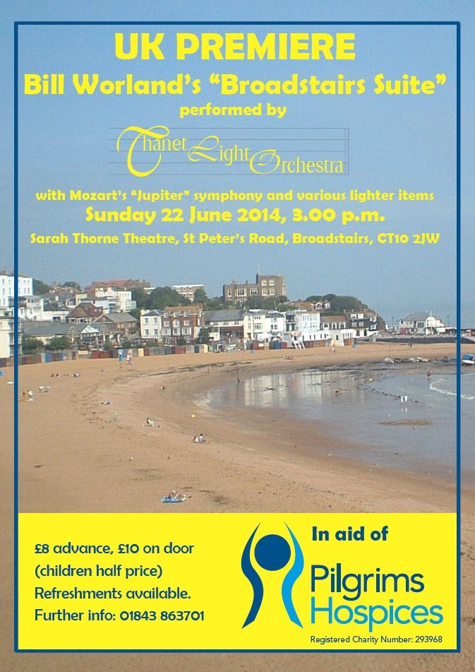 A poster I made for a Thanet Light Orchestra concert in Broadstairs