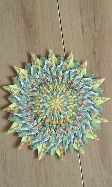 Mandala tropic fruit with people