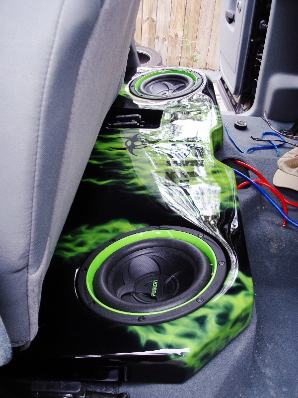 I don't drive a Dodge but this box is badass...06 Dodge Ram - custom subwoofer box.