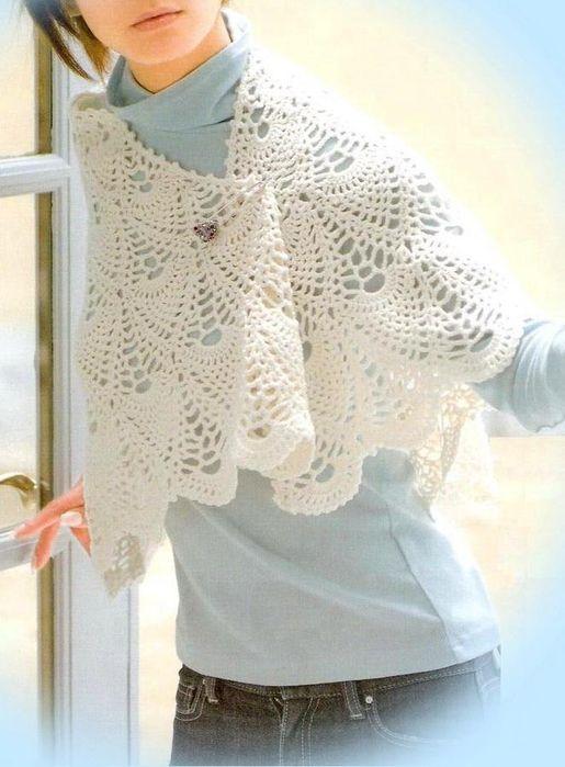 Irish crochet &: CROCHET CAPE...........НАКИДКА