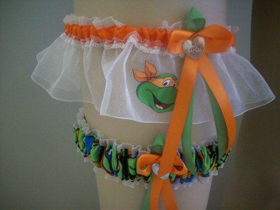 Teenage Mutant Ninja Turtles Wedding Garter Set by SportsIntimates