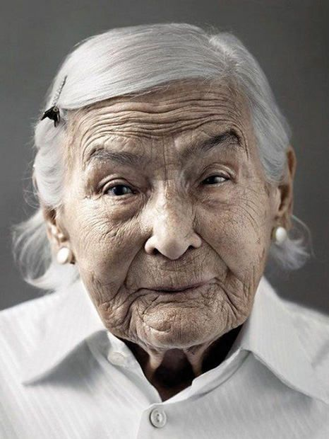 Happy At One Hundred: Emotive Portraits of Centenarians    Is this not the cutest face you've ever seen?!