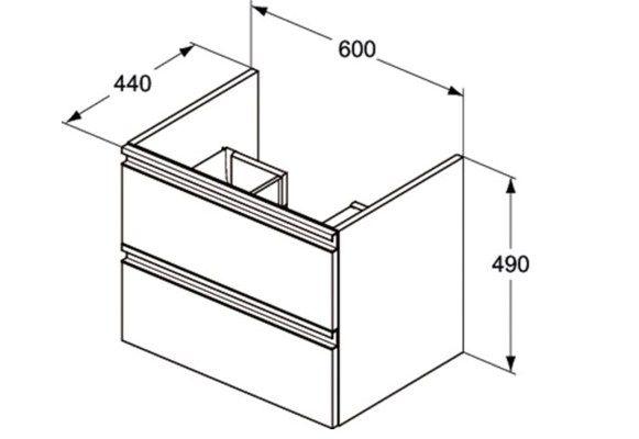 Mueble bajo lavabo suspendido con cajones TESI - T0050 - Ideal Standard Italia