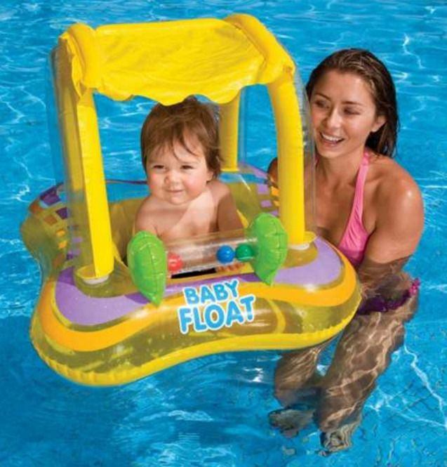 Swimming Pool Beach Sea Inflatable Tube For Babies Infant Baby Raft Safe Toy NEW #Intex
