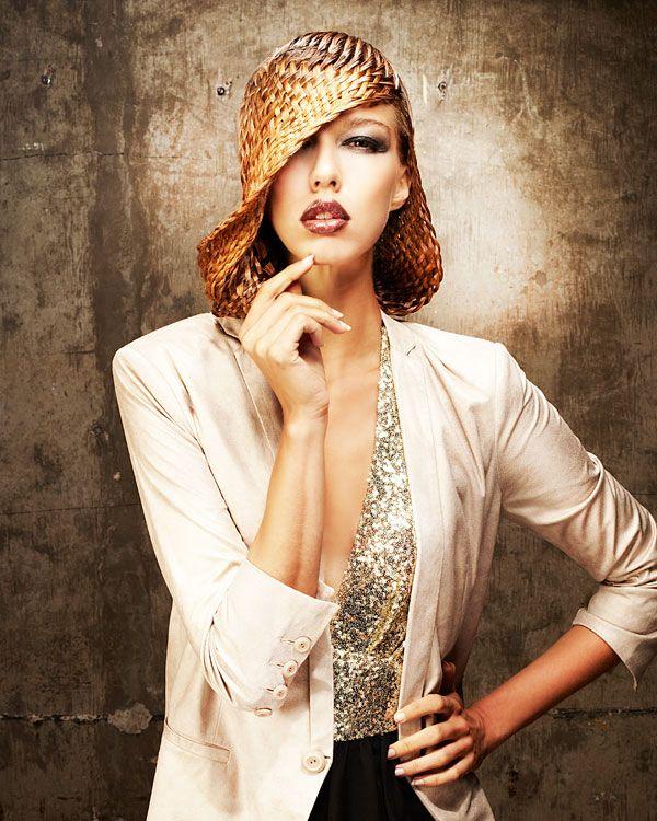 "HAIR HATS ""A Day at the Races"" by British styling phenom Anne Veck; MUA: Ewa Pietras; Fashion Stylist: Kate Jeffery; Photog: Barry Jeffery; Product: Matrix Design Pulse"
