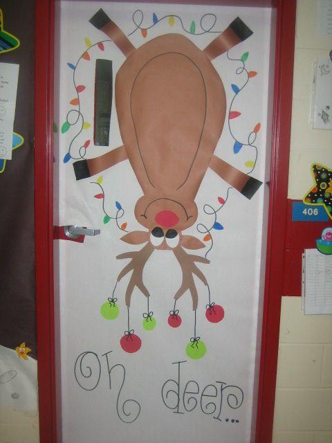 Christmas classroom door!