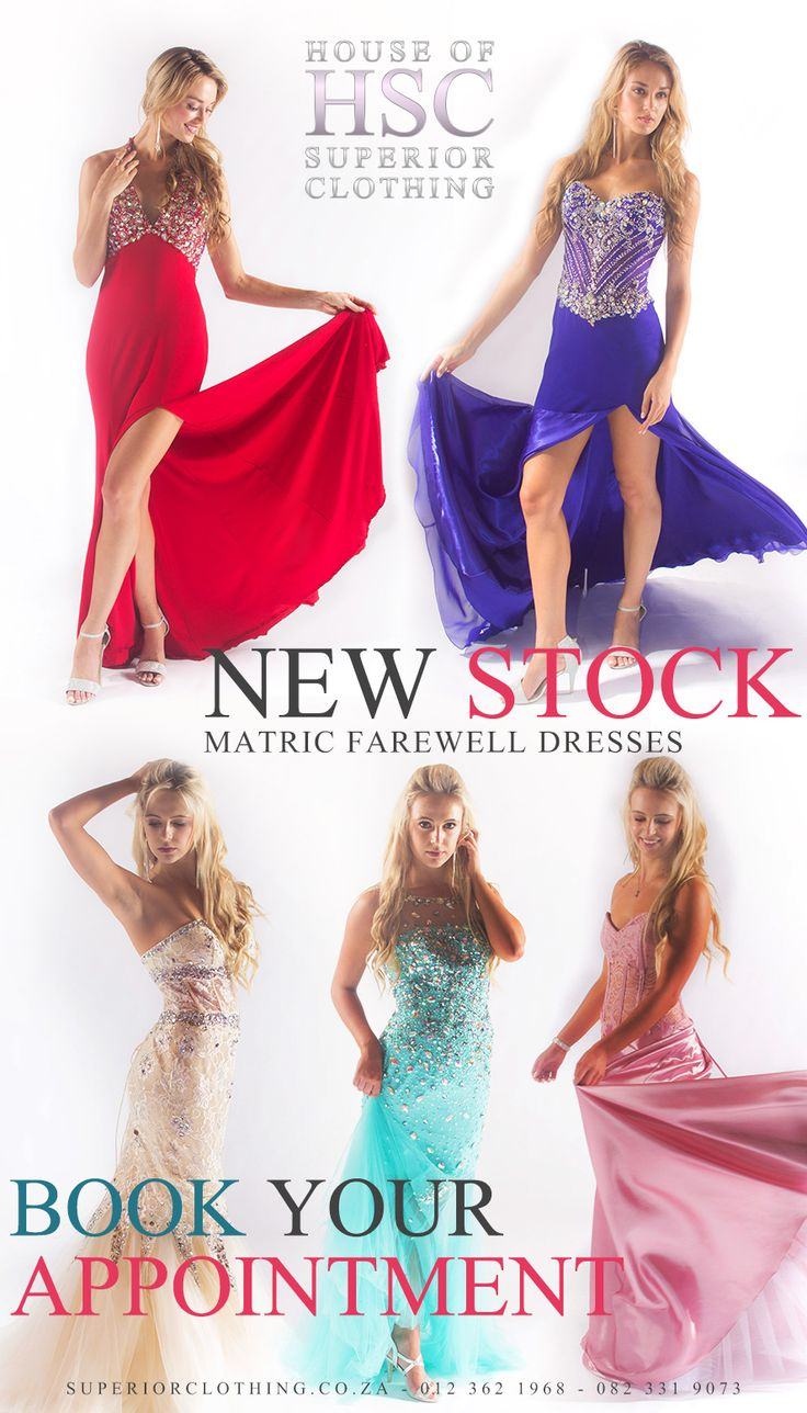 New Stock Arrived. Book your Consultation and get the Perfect dress for your Matric Farewell