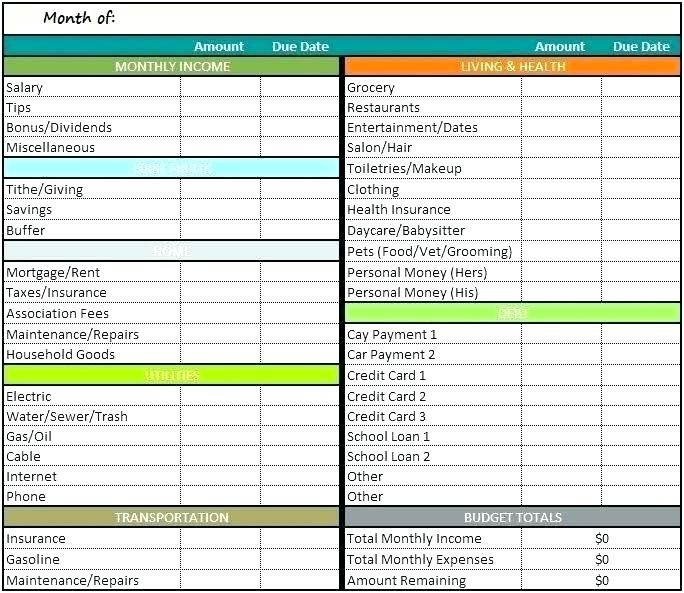 Monthly Expenses Worksheet Excel Household Budget Spreadsheet Free Business Template Home M Budget Template Personal Budget Excel Budget