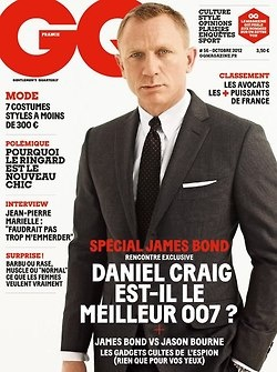 Hello James Bond. Daniel Craig for GQ France, October 2012. ~Craig Fixation, Daniel Craig, Craig Movie, Ekim 2012, Men Fashion, Magazines France, Covers Photos, Fashion Magazines, Magazines Covers