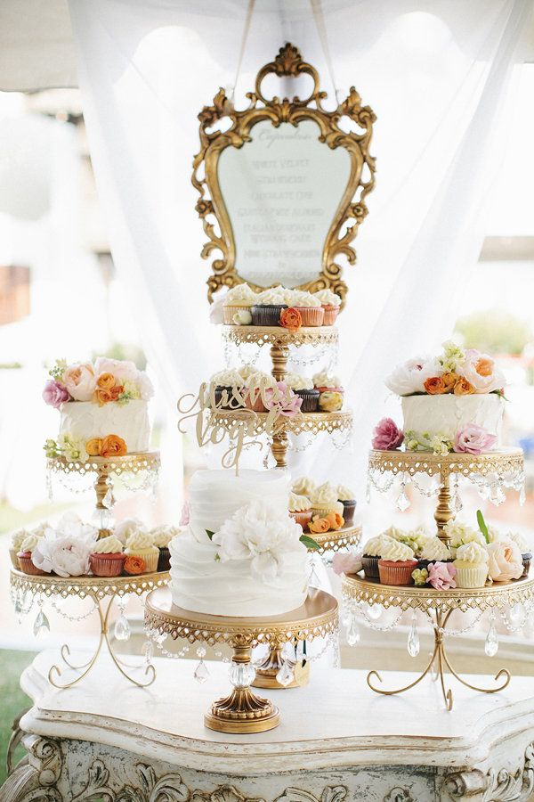 Opulent Treasures Chandelier Cake Stands...a stunning combination of the Loopy, Ball Base and Cakes....