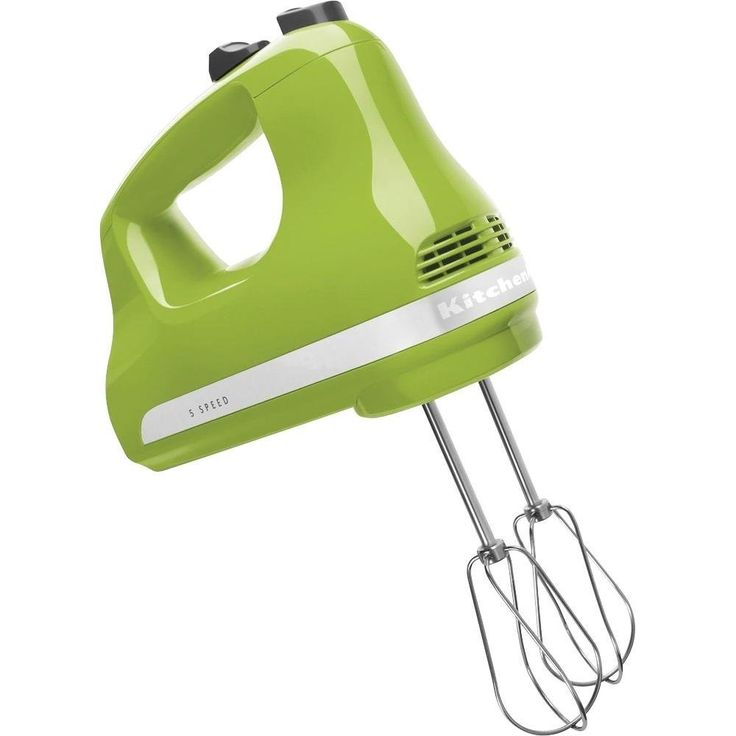Hand Mixers are nice to have for those quick mixing needs. This Green Apple KitchenAid 5 Speed mixer is easy to use and works like a charm. The Ultra Power Kitchen Aid 5 Speed Hand Mixer from KitchenAid. KHM512GA $39.99