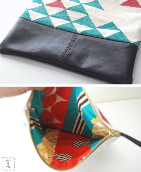 super cute foldover clutch tutorial | could be with leather or even colorful vinyl
