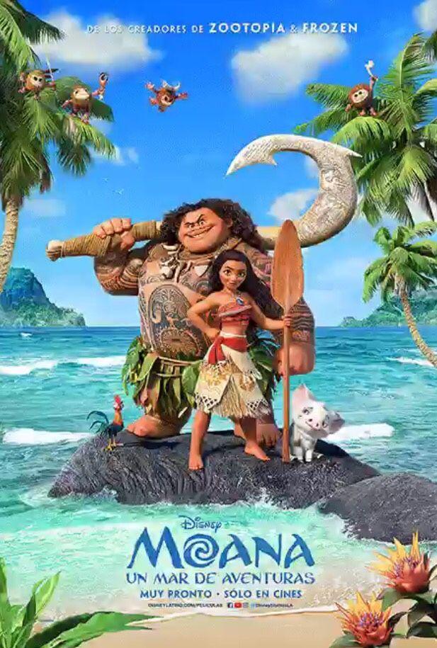 new Latin American Spanish Moana poster