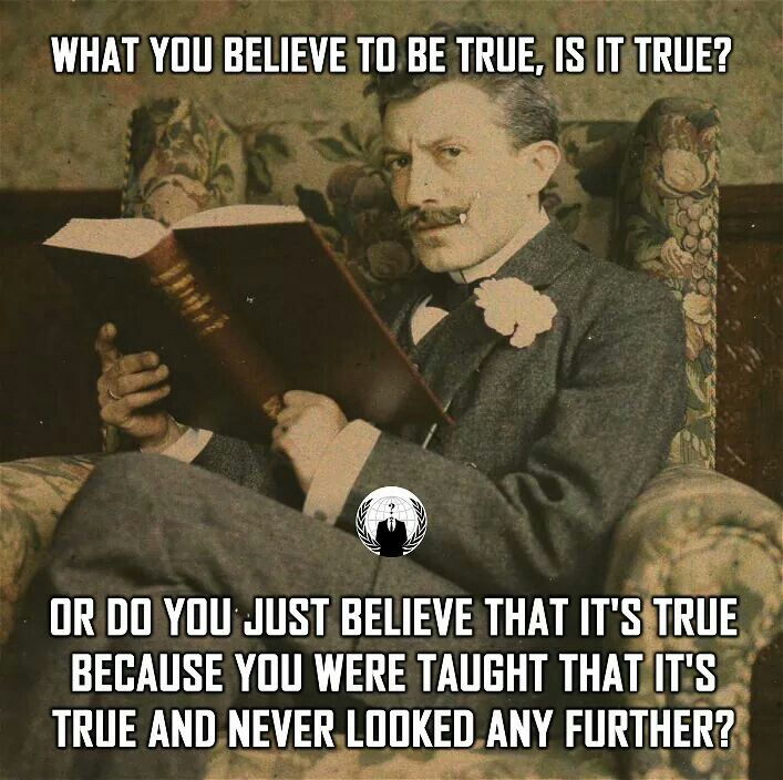 "Or are you part of the ""post truth"" movement and simply believe whatever you want to believe even though you know it's not true?"