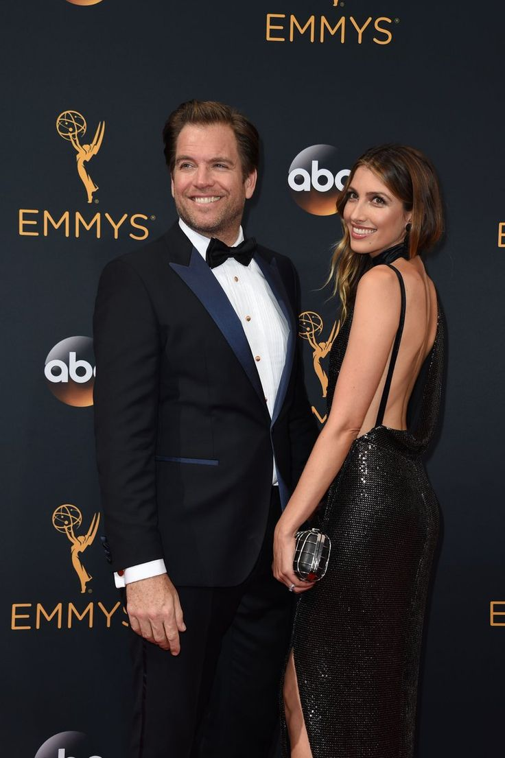 Michael Weatherly & wife on the Emmy Awards 2016