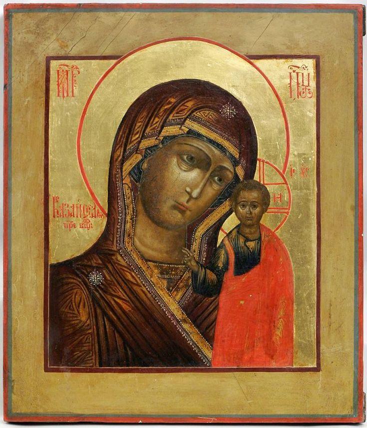 Казанская икона Пресвятой Богородицы, Россия, 19 в., Эстония, частное собрание