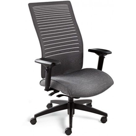 Global Loover 2661-8 Weight sensing synchro-tilter chair with a high mesh back - MT-30 Grey FREE Shipping in Canada at Ugoburo.ca!