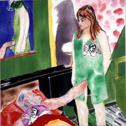R.B. Kitaj, Los Angeles No. 22, oil on canvas, 2002
