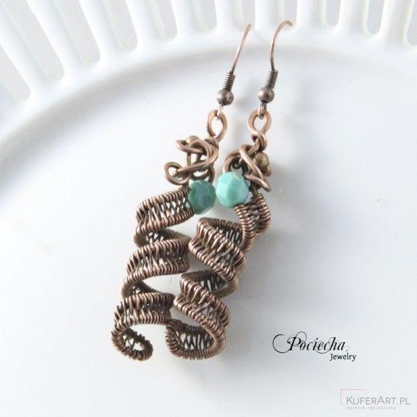 Swirl kolczyki sprężynki - Kolczyki - Biżuteria srebrna