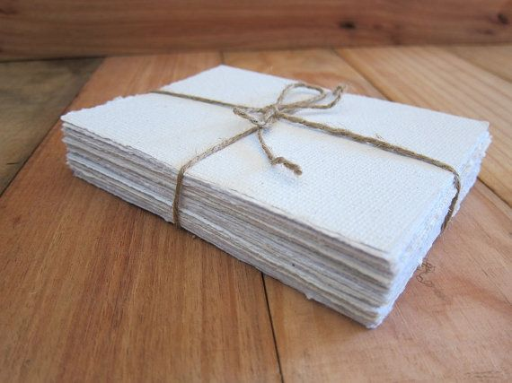 White Handmade paper sheets Recycled paper by marigoldmountain