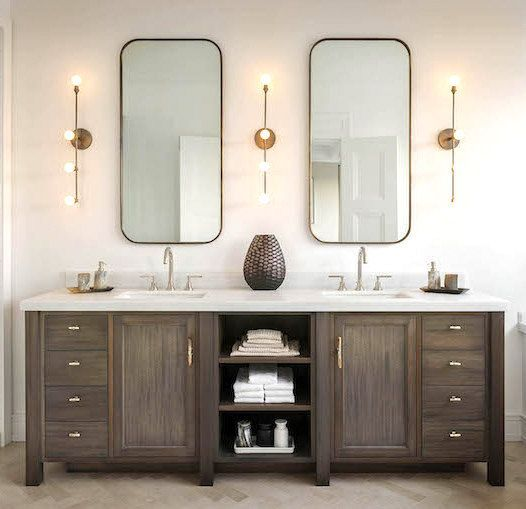 Best 25 wood bathroom vanities ideas on pinterest Double vanity ideas bathroom