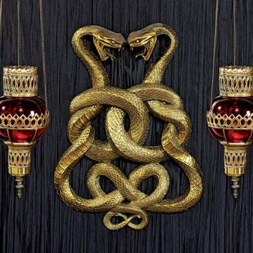 Egyptian Infinity Cobra Twins Wall Plaque $79.95