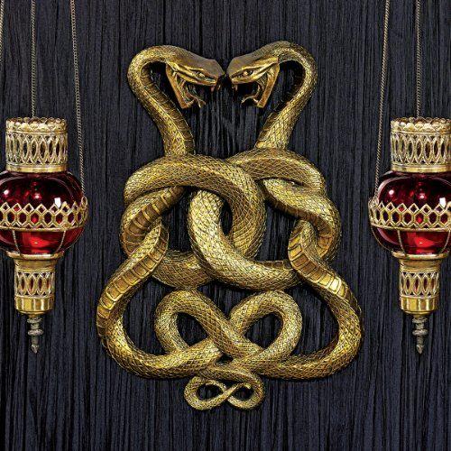 Egyptian Infinity Cobra Twins Wall Plaque $79.95