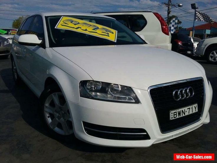 2011 Audi A3 8P MY12 Sportback 1.4 TFSI Attraction White Automatic 7sp A #audi #a3 #forsale #australia