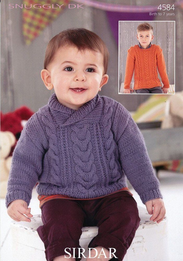 Sweaters in Sirdar Snuggly DK - 4584. Discover more Patterns by Sirdar at LoveKnitting. The world's largest range of knitting supplies - we stock patterns, yarn, needles and books from all of your favorite brands.