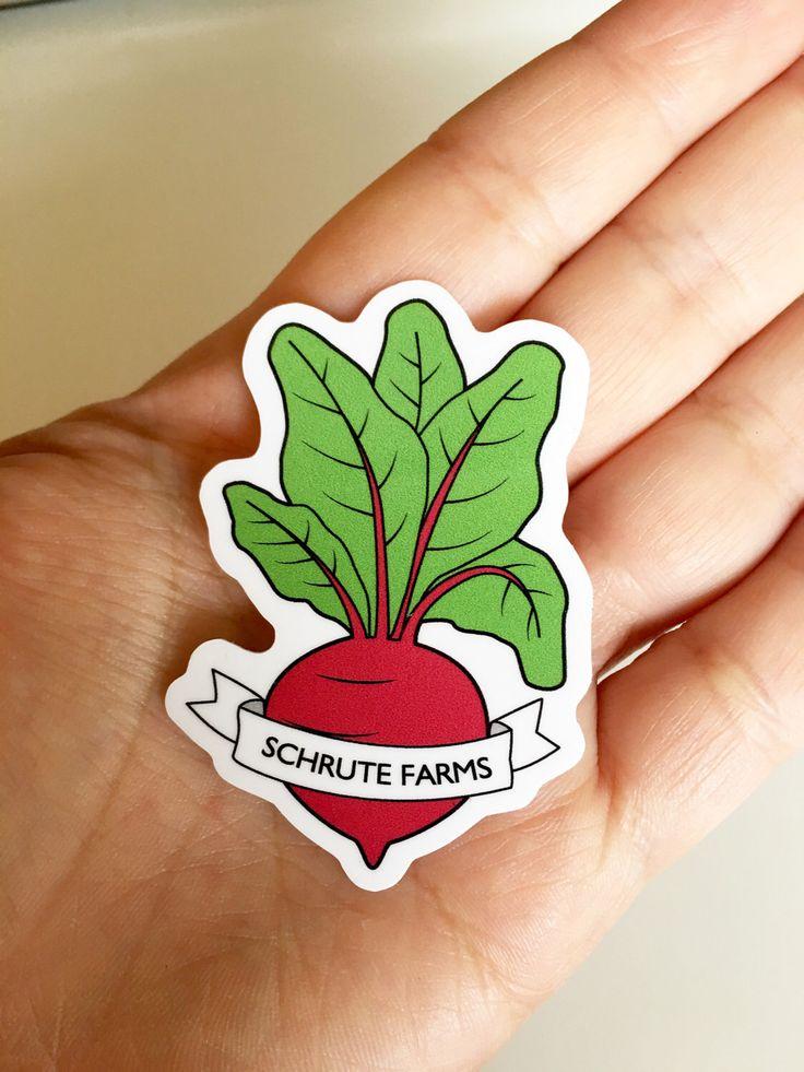 Schrute Farms Beet Sticker - Dwight Schrute The Office Vinyl Sticker by SleepyMountain on Etsy https://www.etsy.com/listing/463395341/schrute-farms-beet-sticker-dwight