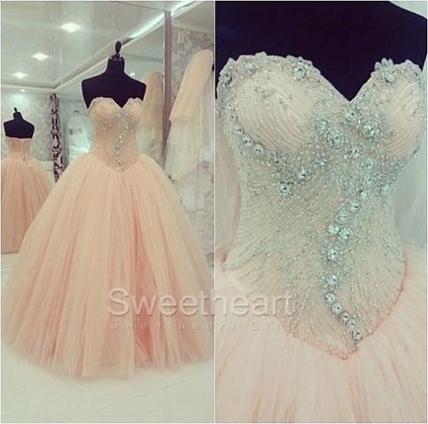Amazing Ball Gown Tulle Sweetheart Prom Dresses, Sweet 16 Dress #prom #promdress